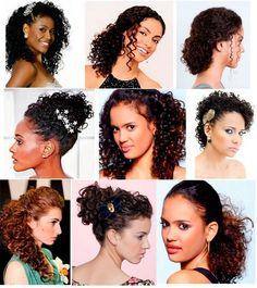 Penteados para cabelo cacheado e curto