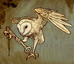 my dream tattoo to cover my old one on my back. instead of a key, he would hold a scroll with lettering, like the swallow tats.