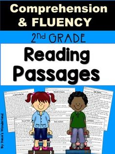 Reading COMPREHENSION and FLUENCY Passages for 2nd Grade :This resource contains 8 reading passages (6 fiction and 2 nonfiction) that target both COMPREHENSION and FLUENCY. Each passage is presented twice, in 2 versions ,and it's followed by a True/ False sort.The students will have to: *read each text 3 times and color a star after each reading ( for fluency)*answer text based questions and color the evidence in the text ( in the first version) *write and answer their own questions about…