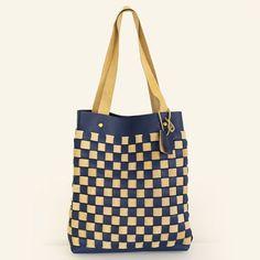 Blue Leather Tote ,Leather Tote Bag - Leather tote - Supple Blue Leather Bag
