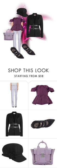 """Spring Set.."" by marlenajo-b ❤ liked on Polyvore featuring Miu Miu, Sea, New York, Thierry Mugler, Michael Antonio, Betmar, 3.1 Phillip Lim and ragnhildsayspostit"