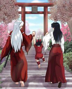 Inuyasha Fan Art, Inuyasha And Sesshomaru, Kagome And Inuyasha, Kagome Higurashi, Fan Anime, Anime Nerd, Anime Love, Anime Couples, Cute Couples