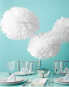 our white tissue paper pom poms are fun and festive party. Black Bedroom Furniture Sets. Home Design Ideas