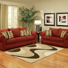 Shop for Furniture of America Connor Velvet Berry Sofa Set. Get free delivery On EVERYTHING* Overstock - Your Online Furniture Shop! Red Couch Living Room, Classy Living Room, Paint Colors For Living Room, Room Colors, Living Furniture, Home Decor Furniture, Burgundy Decor, Sofa And Loveseat Set, Sleeper Sofa