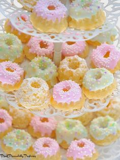 Pink Piccadilly Pastries: Pretty Pastel Coconut Pound Cakes