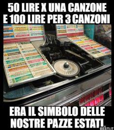 50 lire | BESTI.it - immagini divertenti, foto, barzellette, video Italian Memes, Childhood Days, My Memory, Good Old, Dream Life, Jukebox, Wwii, Lol, Memories