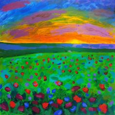 ARTFINDER: Field Where We Fell by Randy Conner - painting on canvas