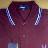 Fred Perry Classic Fit Twin Tipped Polo Shirt- MAHOGANY