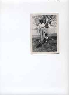 This is me at 3 with my mom and my dog, Taffy. Sarah Ruperta Mora Nigro Fred Willis Nigro