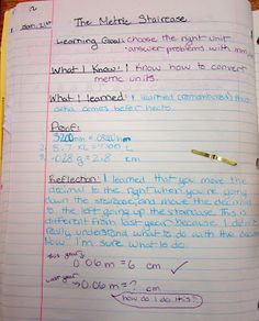 Runde's Room: Math Journal Sundays - Metric Conversions