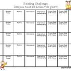 Challenge your students to read at least 40 books this year! Download this handy record keeping sheet. Students can write the book titles in each b...