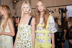 Before the show at Fausto Puglisi Spring 2015