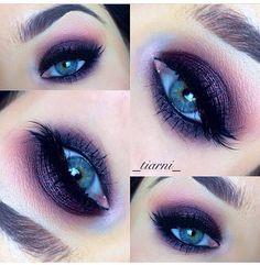 Purple smokey eye (Instagram _tiarni_ )
