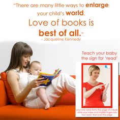 Learn the SIGN for READ today. Find out more about WeCanTalk and Baby Sign Language on our website www.wecantalk.co.za