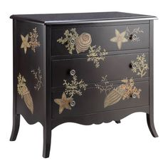 Found it at Wayfair - Painted Treasures Coral Coastal Chest