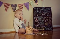 My baby boy 1st birthday cake smash photo session!