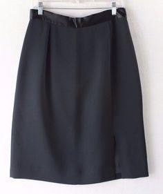 Andrea Polizzi for Rex Lester Neiman Marcus Black Women's Career Skirt - Size 14…