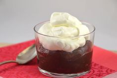 Triple-Chocolate Pudding with Whipped Cream