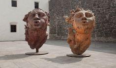Javier Marín | Cabeza de hombre / Cabeza de mujer | Museo del Carmen, Ciudad de México, México.