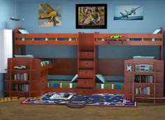 Berg Furniture Specialty Bunk Beds - Sleeps 3, 4 or More