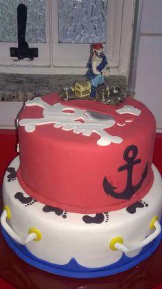 Bolo fake festa pirata