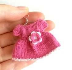 "Miniature pink dress/Dollhouse clothing, dress for 2.5""-2.7"" doll/Playscale, 1:12 miniature doll clothes by AnnaToys on Etsy"