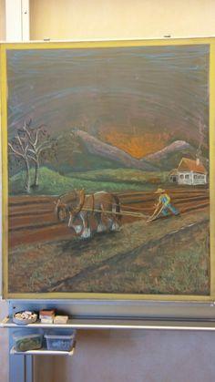 Chalkboard Drawing / Tafelbilder / 3rd grade / Farming / Ackerbau / Waldorf / by Velly