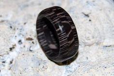 Layered Tree Bark Rhyolite Stone ring