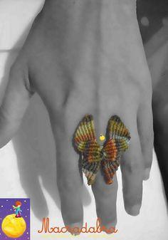 Anillo #Mariposa Macrame