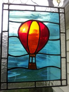 Stained Glass Patterns and Ideas | Stained Glass Hot Air Balloon