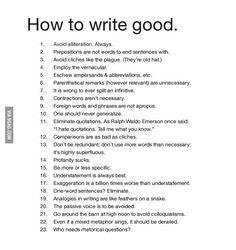How to write good.