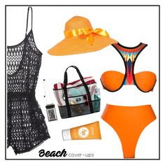 """Beach cover-ups"" by chintyar ❤ liked on Polyvore featuring Victoria's Secret and coverups"