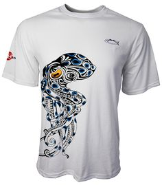 Bluering Octopus Tennis Tee Short Sleeves Colors: Light Aqua, Light Grey Sizes: S - 2XL