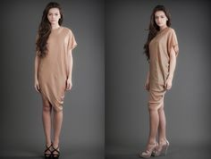 2 in 1 Dress - Nude & Turquoise Reversible Dress, 21st Dresses, Duster Coat, Cashmere, Nude, Turquoise, Silk, Jackets, Fashion Design