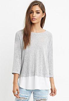 Layered Split-Back Combo Top | Forever 21 - 2000163894