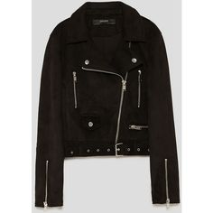 FAUX SUEDE BIKER JACKET - NEW IN-WOMAN-NEW COLLECTION | ZARA Israel ($50) ❤ liked on Polyvore featuring outerwear, jackets, biker jackets, motorcycle jacket, faux suede moto jacket, rider jacket and faux suede biker jacket