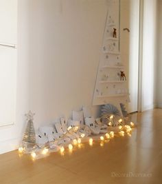 Decoración navideña para el pasillo.