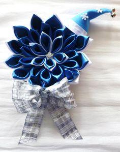 ghirlanda blu e argento con cappellino