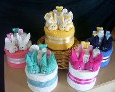 cute boo-boo bunny 'cakes' for baby shower...