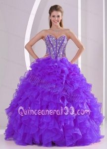 Popular All Colors Sweetheart Ruffles and Beading Dress For Quinceanera 2014 - Quinceanera 100