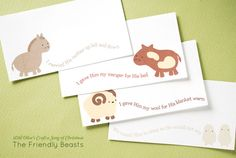 Wild Olive's Craft a Song of Christmas: The Friendly Beasts Printable Gift Tags