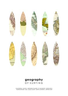 Geography of surfing