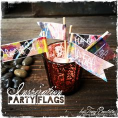 musings and creative inspiration from mixed media artist Traci Bautista, author of Collage Unleashed and Doodles Unleashed. I Party, Party Favors, Party Flags, Bunting Garland, Mixed Media Artists, Mini Cupcakes, Creative Inspiration, Diy Tutorial, Red Velvet