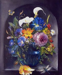 Gary Jenkins | Art Gallery | Beauty of Oil Paint....I love his flowers