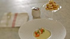 Creamy lemon posset is always a winner, and this version pairs the zingy lemon with fresh fruit and rich shortbread.