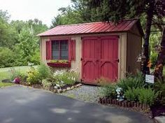 Image result for better homes and gardens potting shed