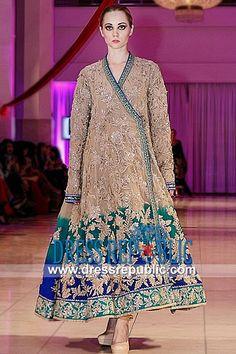 Beige Colorato Petunia, Product code: DR8953, by www.dressrepublic.com - Keywords: Indian Dress Shops Boston, MA Indian Wedding Bridal Dresses Boutique Boston, MA