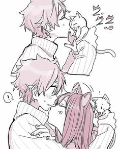 Image about love in Anime Romance 💖💖💖 by ~ Mira ~ ♥️ Anime Couples Drawings, Anime Couples Manga, Manga Anime, Manga Couple, Anime Love Couple, Kawaii Anime Girl, Anime Art Girl, Anime Comics, Photo Kawaii