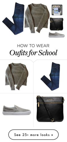 """school"" by sphenoidsludge on Polyvore featuring Vans, MICHAEL Michael Kors and rag & bone"