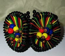Gorgeous, Rare Miriam Haskell Lampshade Circle Bracelet